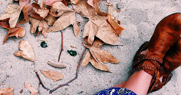 With Only Dead Leaves And Flowers, This Artist Makes Beauty